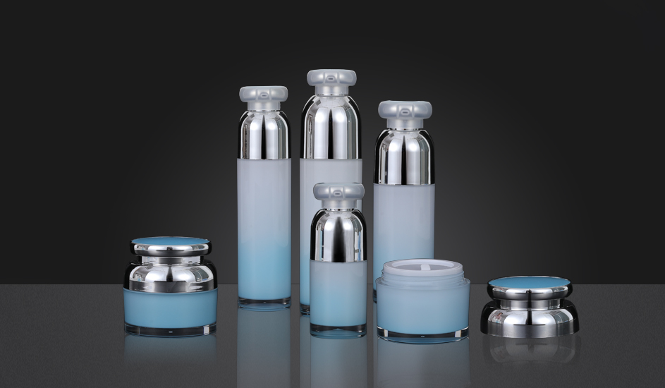 Mirror Surface Acrylic Vacuum Bottle/Cream Jar