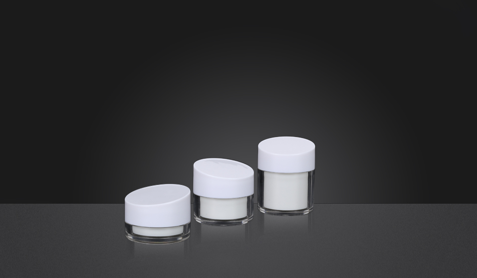 Oblique Cover Acrylic Cream  Jar